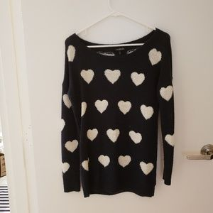 Hearts sweater.